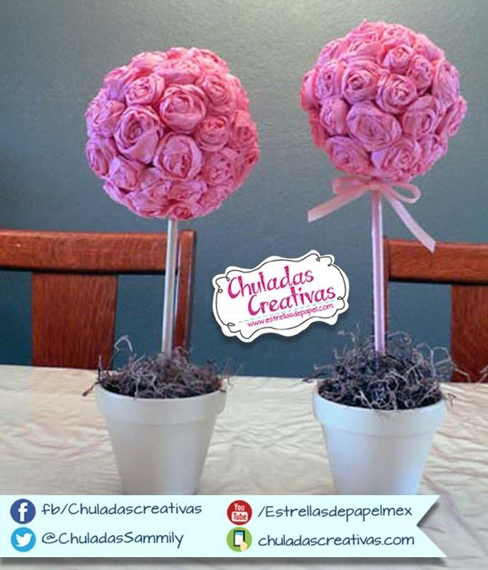 Chuladas Creativas :: Bouquet de Rosas Crepe :: Rosas Crepe