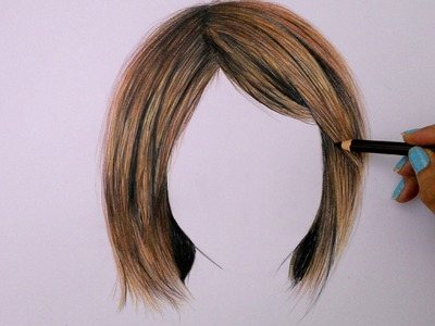 Cómo dibujar cabello con lápices de colores (Tutorial)