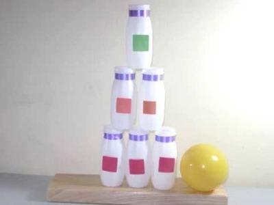 Cómo hacer el juego de carnaval pegale a la  botella