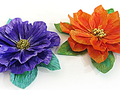 Cómo hacer flores de papel. How to make paper flowers.