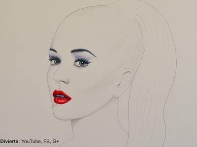 Cómo hacer un retrato minimalista: Katy Perry -Arte Divierte.