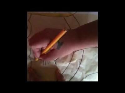 Como transferir tu diseño al terciopelo con cony # 2