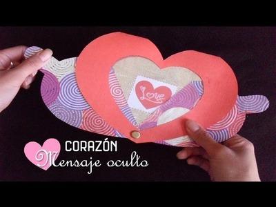 ♥Corazón con Mensaje Oculto|Detalle de Novios ♥ San Valentín