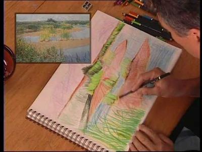 """DIBUJO Y PINTURA 6 """"Lápices de colores, paralelismo con acuarela"""""""