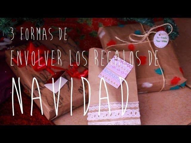 DIY - 3 MANERAS DE ENVOLVER REGALOS DE NAVIDAD - MUY FÁCIL (Especial navidad 1)  | TRIVALE