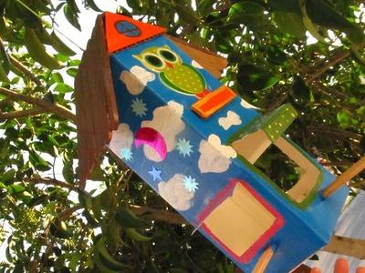 DIY: Comedero de Aves! (Reciclado) Bird Feeder