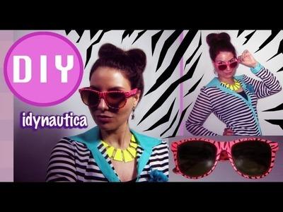 DIY Fashion: Lentes o Gafas de Cebra. Zebra Sunglasses
