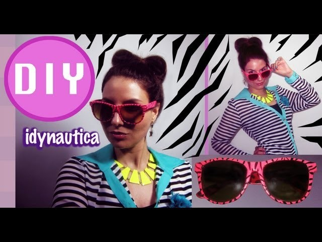 DIY Fashion: Lentes o Gafas de Cebra. Zebra Sunglasses