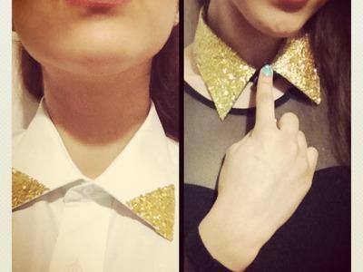 DIY♡ Glitter Collar. Cuello fashion.