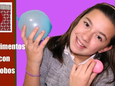 Experimentos para niños: Globos que no explotan
