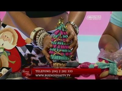Lapicero Arbolito de navidad | Curso de Foamy | Manualidades queternura.com