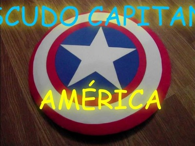 """MANUALIDADES-Escudo del Capitán América de goma eva (foami).""""shield of Captain America"""""""