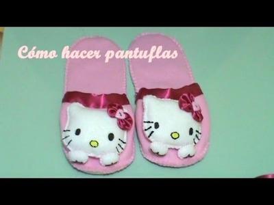 Pantuflas+Llavero Hello Kitty 1.2 (Cómo Hacer LLavero)