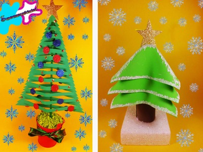 Pinos navideños de fomi ((2 diseños diferentes)) ❅SUPERMANUALIDADES❅