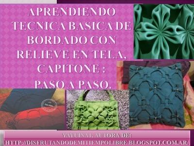 TECNICA BASICA CAPITONE CLASE1 FLOR BASICA PASO A PASO
