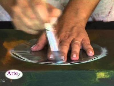 Técnica de pintura a pincel seco