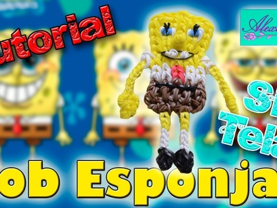 ♥ Tutorial: Bob Esponja de gomitas (sin telar) NIVEL AVANZADO ♥