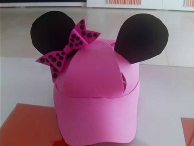 Tutorial Gorra de Minnie Mouse con plantilla
