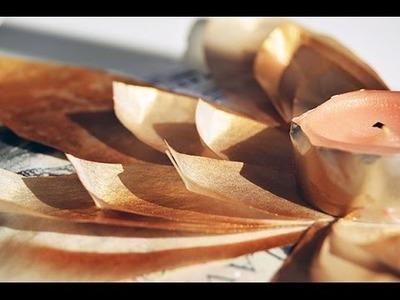Tutorial portavelas flores de loto de papel