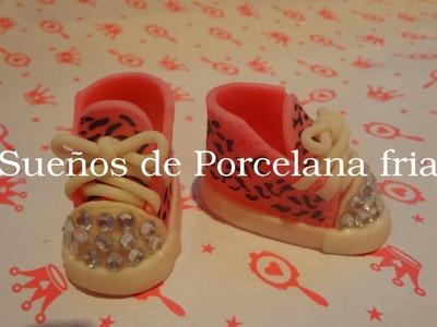 """Zapatillas en Porcelana fria """"Serie Zapatos"""" parte 1"""