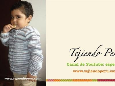 Chompa o sweater tejdo en dos agujas para niños (Parte 1)