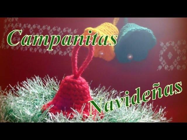 Cómo tejer campanitas navideñas en 15 minutos (christmas bells) -tejido para zurdos-