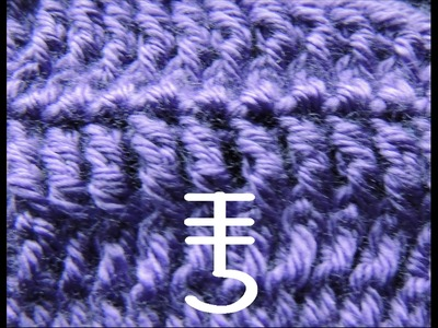 Curso Basico de Crochet : Doble Punto Alto tomado por la parte de adelante