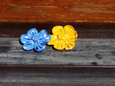 DIY: ❀ Cómo hacer flores de tela (Kanzashi) ❀