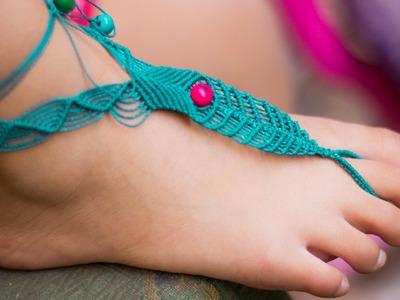 Tutorial sandalia descalza en macramé