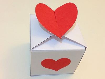 Cajita con corazón para San Valentín
