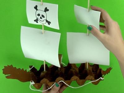 Cómo hacer un barco pirata paso a paso