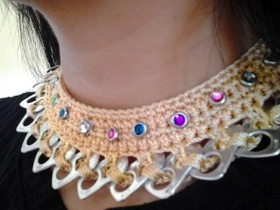 Cómo hacer un collar con anillas de lata: Collar Primavera