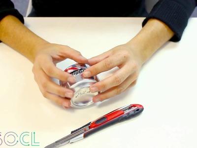 Como hacer un mechero con una lata de gaseosa