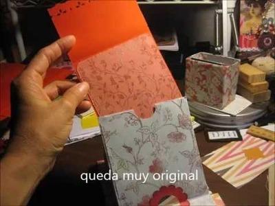 Como hacer un mini album con sobres usados