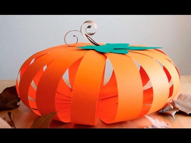 Cómo hacer una calabaza de cartulina para Halloween