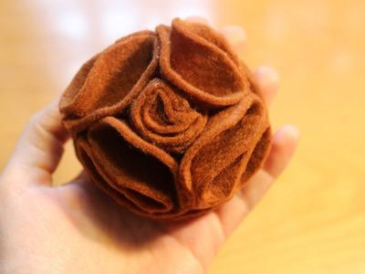 Cómo hacer una flor de fieltro sin coser | facilisimo.com