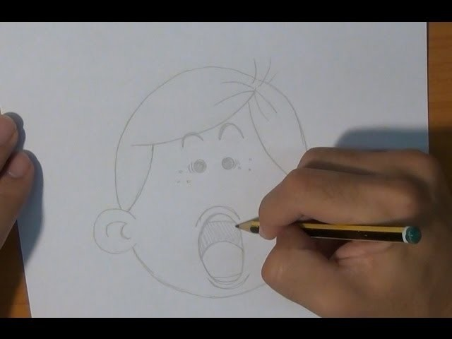 Dibujar una cara sorprendida - Draw a surprised face