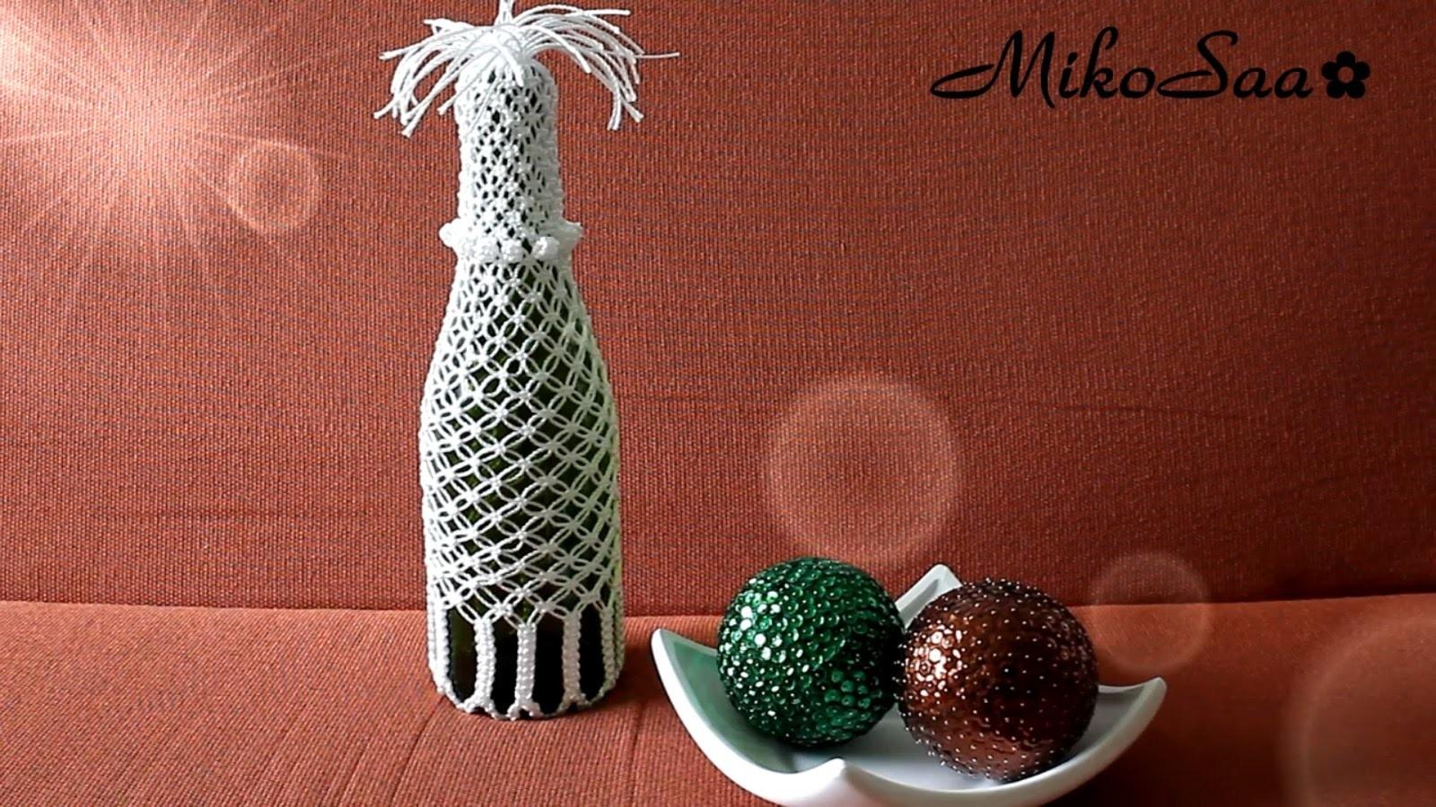 DIY Botella Reciclada con Macrame. DIY Recycled Bottle with Macrame - MikoSaa