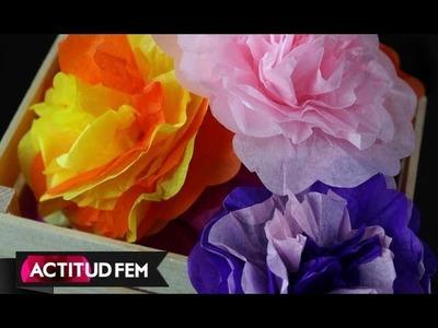 DIY. HTM Flores de papel de china, cómo hacerlas