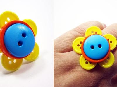 Episodio 523- Cómo hacer un anillo en forma de flor con botones