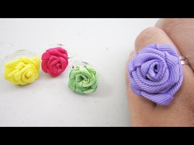 Episodio 594 - Mini Fashion DIY  Cómo hacer un anillo de rosas de listón