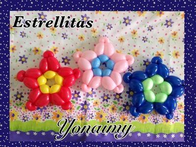 ESTRELLITAS  CON GLOBOS 260.- STARS MADE WITH 260 BALLOONS .