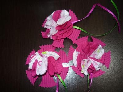 Flores en tela para decorar accesorios  o prendas de vestir. vídeo No.006.