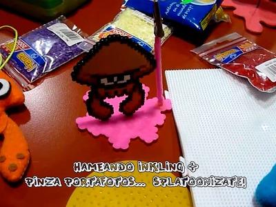 Hameando: Inkling + Pinza portafotos.  Splatoonizate!
