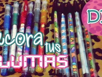 Idea para decorar tus plumas|bolígrafos  ❤ DIY | Niizzpop