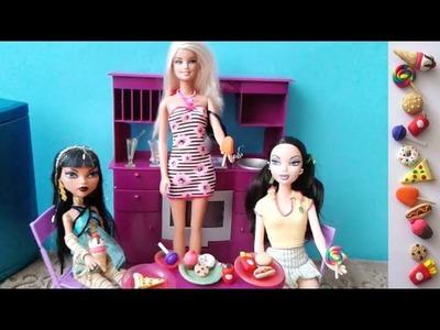 Manualidades para muñecas: Haz comida para tus muñecas MONSTER HIGH y BARBIES: