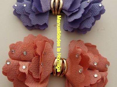 Moños hermosos en tela para accesorios del cabello paso a paso  No.  348 Manualidades la Hormiga