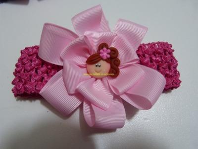 Moños lazos o flores en cinta para accesorios del cabello paso a paso. ManualidadeslaHormiga