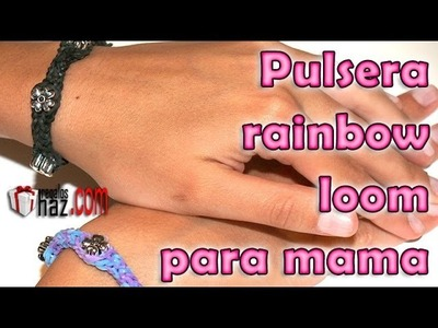 Pulsera Rainbow Lomm con Florcitas - DIY - bracelet for mom
