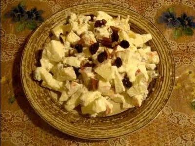 Receta de ensalada de manzana navideña - La receta de la abuelita